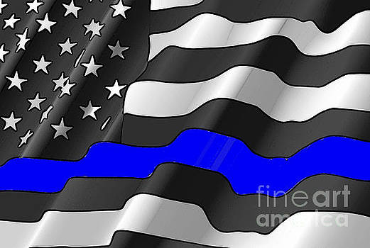 Police Flag  by Mark Moore