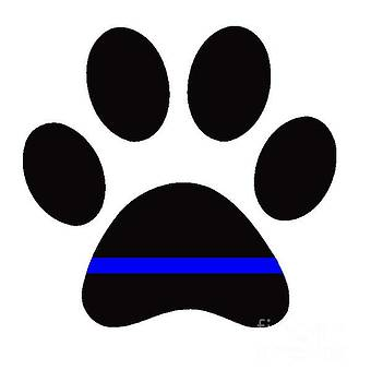 Police K9 Paw by Mark Moore