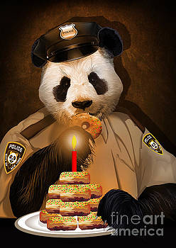 Police Panda Love Donuts by Three Second