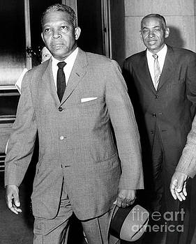Politician Hulan Jack arriving to court in 1960. by Barney Stein
