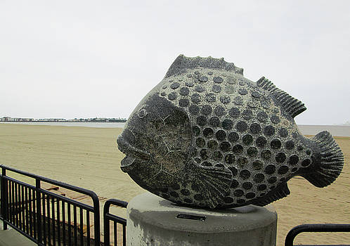 Polka Dotted Fish Sculpture by Mary Capriole