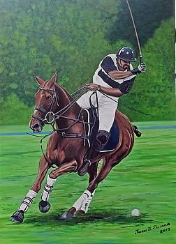 Polo player by Juan Jose Serra