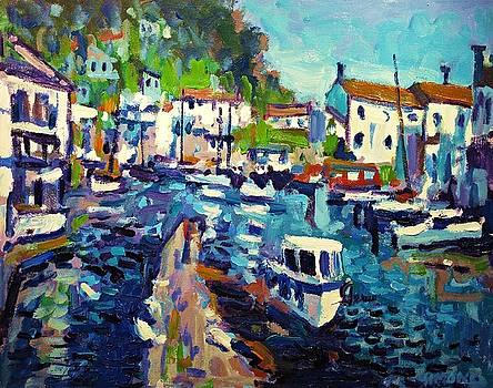 Polperro Harbor by Brian Simons