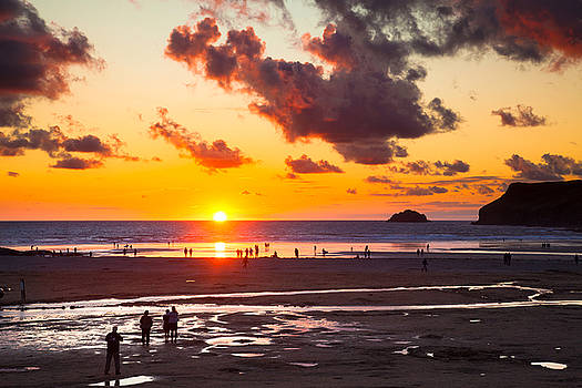 Polzeath Sunset by Mark Richardson