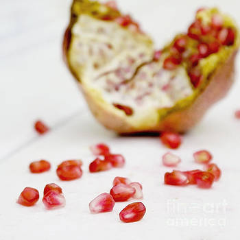 Pomegranate seeds by Cindy Garber Iverson