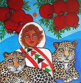 Pomegranates at Dawn by Jennifer Mourin