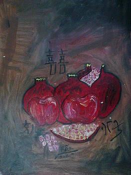 Rizwana Mundewadi - Pomegranates of Feng Shui Fertility luck