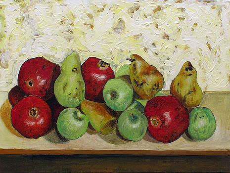 Pomegranates pears and apples  by Vladimir Kezerashvili