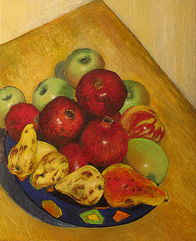 Pomegranates pears apples  by Vladimir Kezerashvili