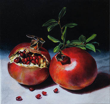 Pomegranates with Seeds by Anthony Enyedy
