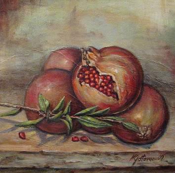 Pomegranetes by Mirjana Gotovac