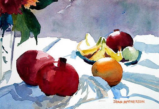 Pomegranites and Fruit by Joan McPherson