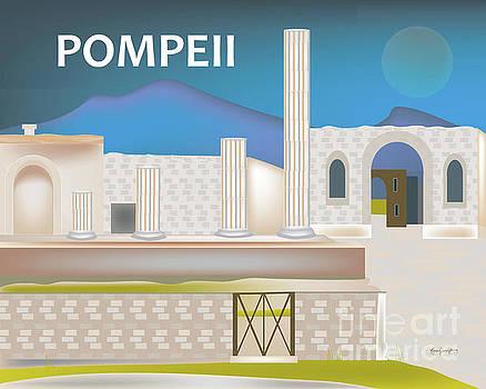 Pompeii, Italy Horizontal Scene by Karen Young