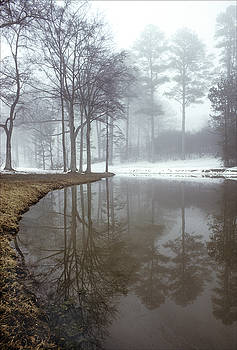 Pond and Snow Atlanta by Alan Mogensen