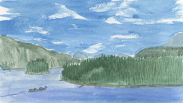 Pond Oreille, Hope Idaho by Victor Vosen
