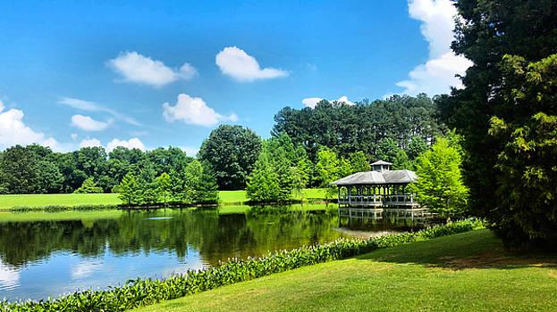 Pond Pavilon At Deibert Park  by Kathy K McClellan