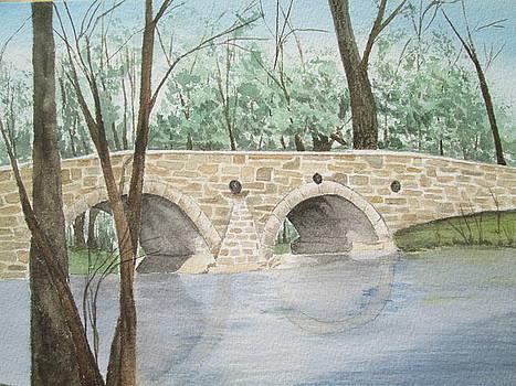 Pondtown Mill Bridge-1880 by Barbara Murphy