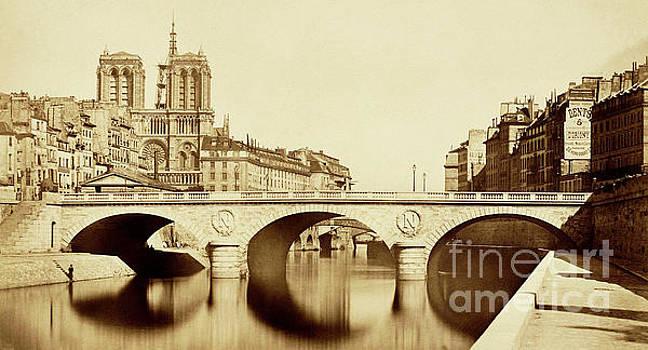 Pont Saint-Michel Paris by Auguste Pollard