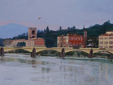 Pont Vecchio landscape by Lynne Reichhart