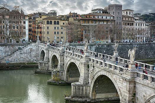 Ponte Sant Angelo Rome by Joachim G Pinkawa