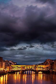 Ponte Vecchio Illuminated by Andrew Soundarajan