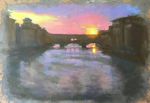 Ponte Vecchio Sunset by Michael Gillespie