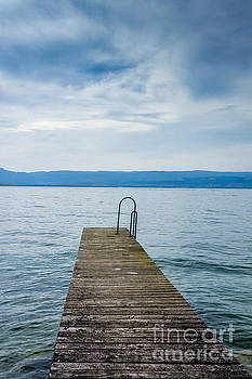 BERNARD JAUBERT - Pontoon on lake geneva. Haute-Savoie. France.