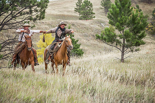 Pony Express Riders by Steven Bateson