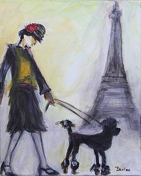 Poodle in Paris by Denice Palanuk Wilson