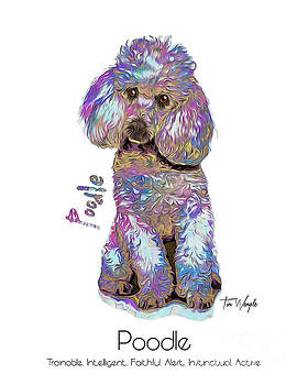 Poodle Pop Art by Tim Wemple