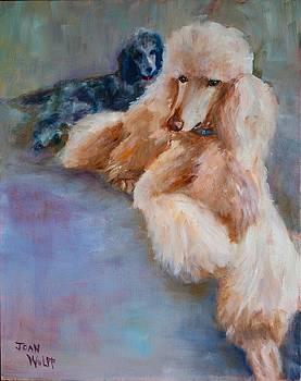 Poodles by Joan Wulff