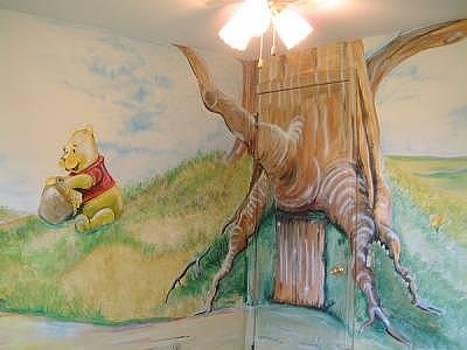 Pooh Mural by Merideth