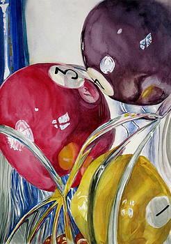 Pool Balls in a Vase by Karen Boudreaux