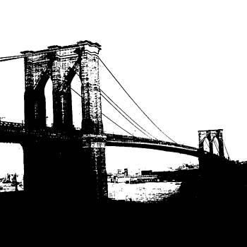 Pop Art Brooklyn Bridge New York City by Meliha HIZLI