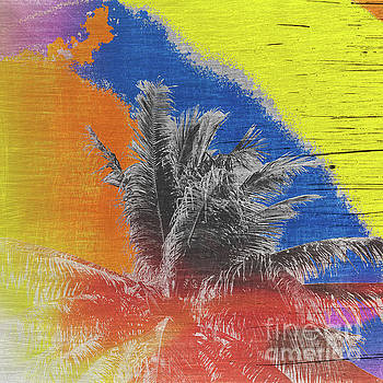 Pop Art Coconut Tree Retro Tropical Vintage Palm  by Beverly Claire Kaiya