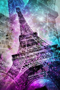 Pop Art Eiffel Tower by Melanie Viola
