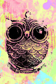 Pop art owl watercolour by Jorgo Photography - Wall Art Gallery
