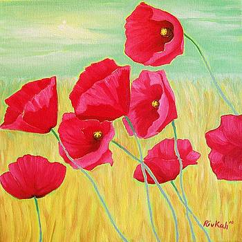 Pop Pop Poppies by Rivkah Singh