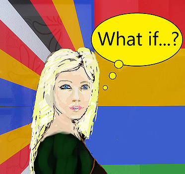 Popart portrait what if..? by Tom Conway