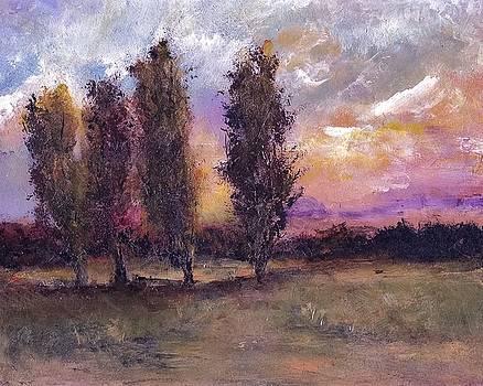 Poplar Dreams Landscape by Michele Carter