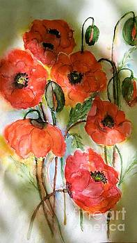 Poppies, 2017 by Hedwig Pen