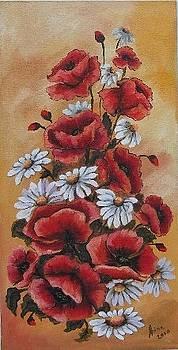 Poppies and daisies by Abrudan Mariana