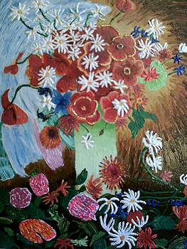 Poppies and Daisies by Brenda Adams