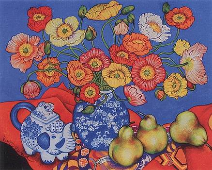Richard Lee - Poppies and Pears