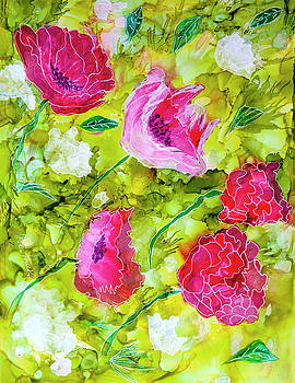 Poppies and Peonies by Judy Huck
