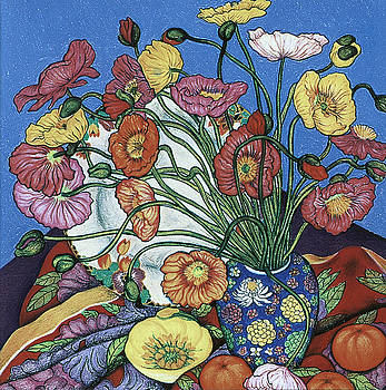 Richard Lee - Poppies and Plate