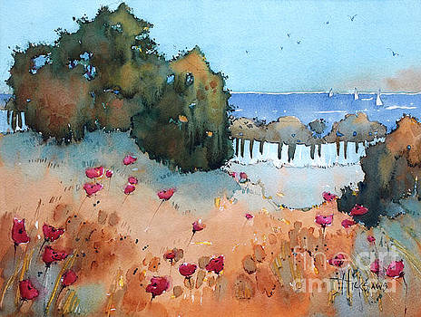 Poppies by the Sea by Joyce Hicks