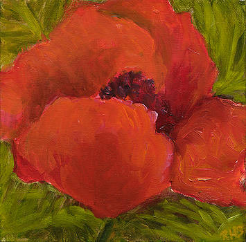 Poppies Diptych A by Rita Bentley