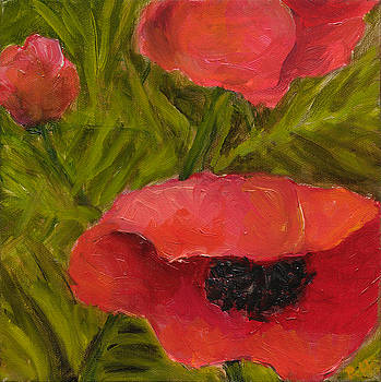 Poppies Diptych B by Rita Bentley