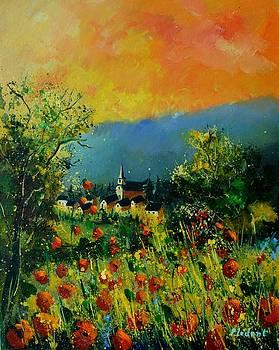 Poppies Houyet  by Pol Ledent